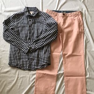 BOYS BUTTON DOWN AND CHINOS